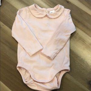 Blush pink long sleeve onesie